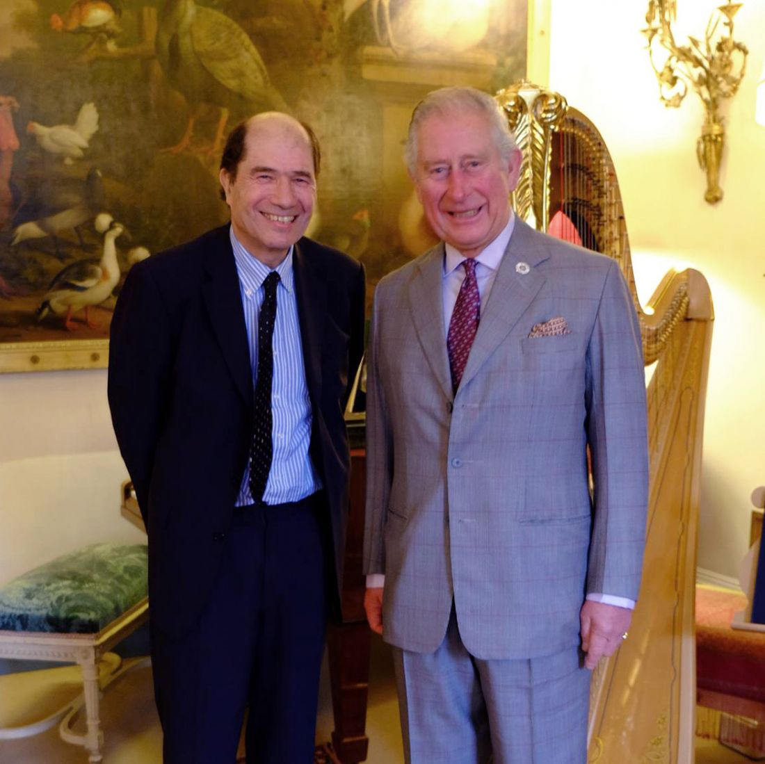 Michael Berkeley (left) with His Royal Highness the Prince of Wales